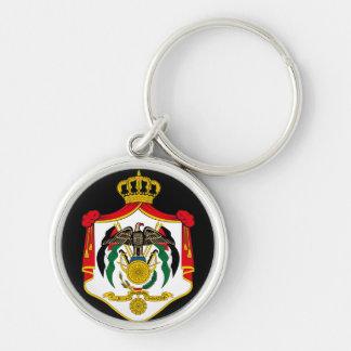 emblema de Jordania Llavero Redondo Plateado