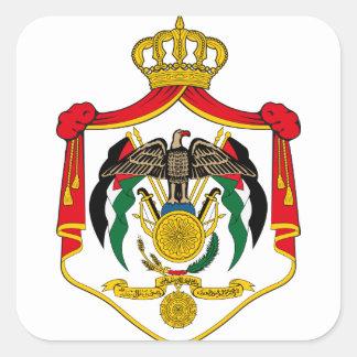 emblema de Jordania Pegatina Cuadrada