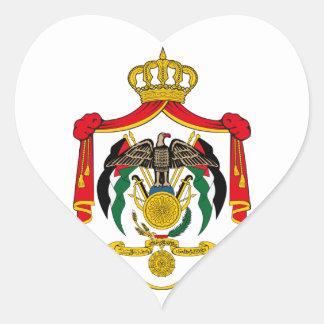 emblema de Jordania Pegatina En Forma De Corazón