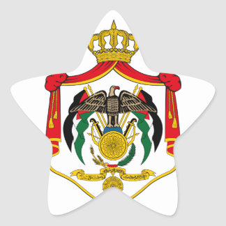emblema de Jordania Pegatina En Forma De Estrella