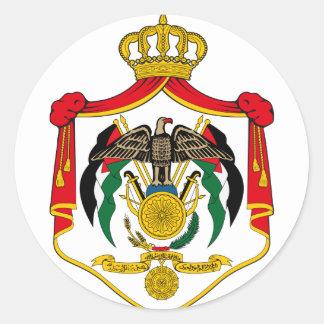 emblema de Jordania Pegatina Redonda