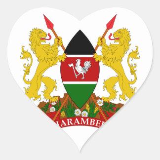 emblema de Kenia Pegatina De Corazon