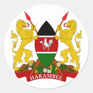emblema de Kenia Pegatina Redonda