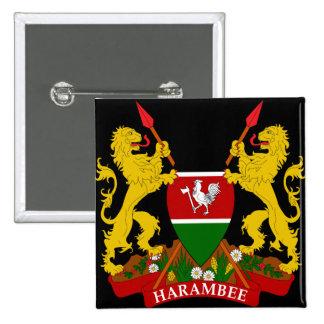 emblema de Kenia Pin Cuadrado