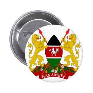 emblema de Kenia Pin Redondo De 2 Pulgadas