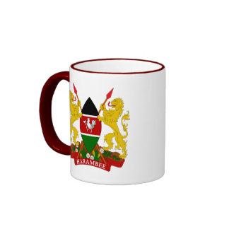 emblema de Kenia Tazas De Café