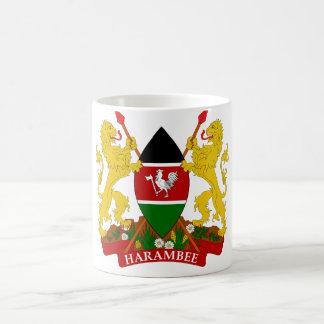 emblema de Kenia Taza De Café