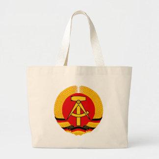 Emblema de la Alemania Oriental Bolsa De Tela Grande