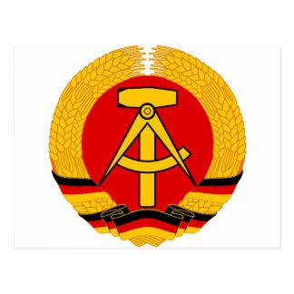 Emblema de la Alemania Oriental Postales