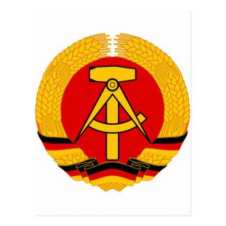 Emblema de la Alemania Oriental Tarjetas Postales