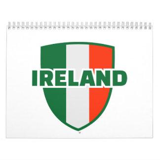 Emblema de la bandera de Irlanda Calendarios De Pared
