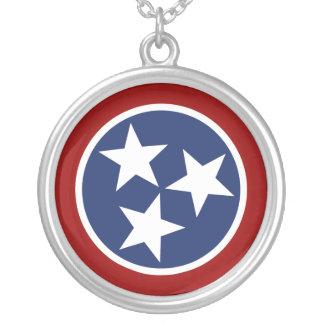 Emblema de la bandera de Tennessee Colgante Redondo