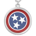 Emblema de la bandera de Tennessee Collar Plateado