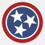Emblema de la bandera de Tennessee Pegatinas