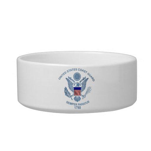 Emblema de la bandera de USCG Comedero Para Mascota