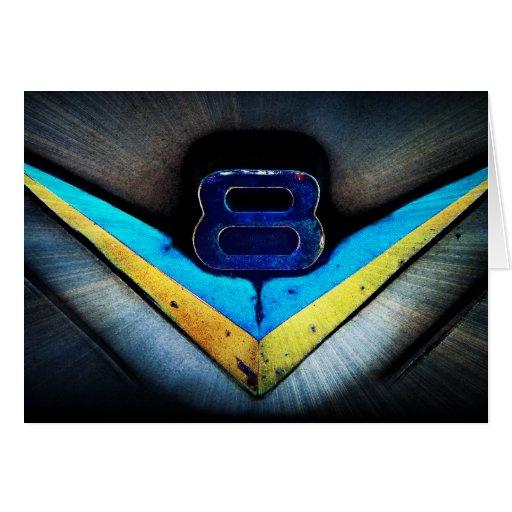 Emblema de la capilla de V8 Hotrod Tarjeta De Felicitación