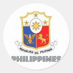 Emblema de la filipina pegatinas redondas