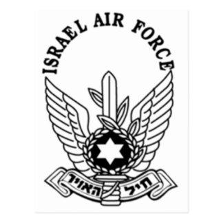 Emblema de la fuerza aérea del ejército israelí tarjetas postales