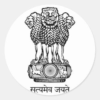 emblema de la India Pegatina Redonda