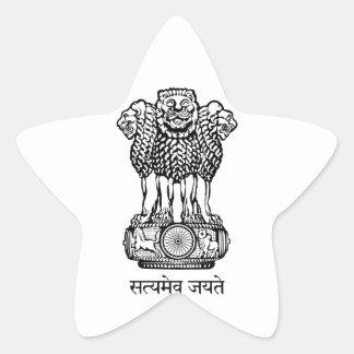 emblema de la India Calcomania Forma De Estrella Personalizadas