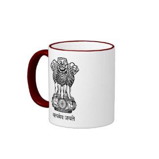 emblema de la India Taza De Dos Colores