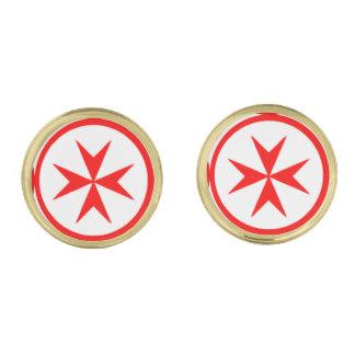 Emblema de la marina de guerra Toscana Medici Gemelos Dorados
