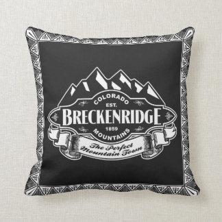 Emblema de la montaña de Breckenridge Cojin