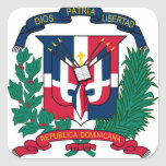 emblema de la República Dominicana Calcomanía Cuadradas Personalizadas
