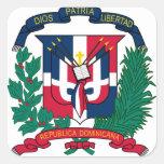 emblema de la República Dominicana Pegatina Cuadrada