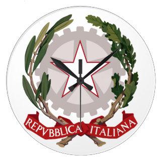 Emblema de la república italiana reloj de pared