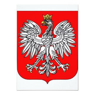 """Emblema de las invitaciones de Polonia Invitación 5"""" X 7"""""""
