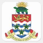 emblema de las Islas Caimán Pegatina Cuadradas