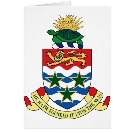 emblema de las Islas Caimán Tarjeta