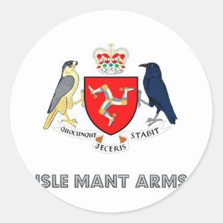 Emblema de las islas pegatina redonda