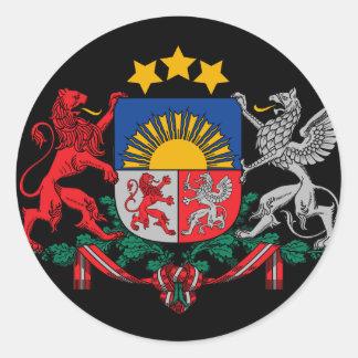 emblema de Letonia Pegatina Redonda