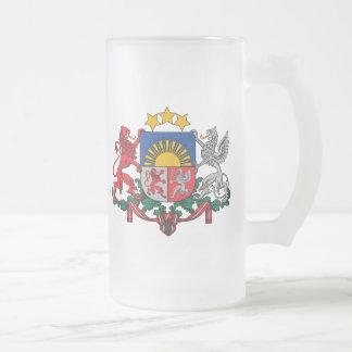emblema de Letonia Taza De Cristal