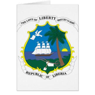 emblema de Liberia Tarjeta