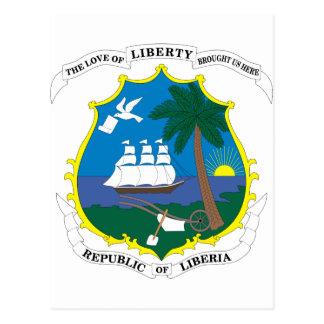 emblema de Liberia Postales