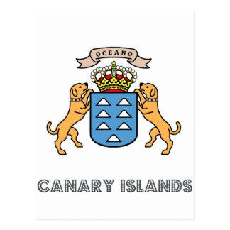 emblema de los canarias tarjeta postal