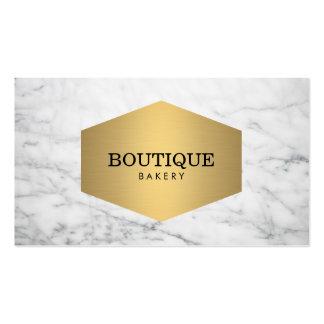 Emblema de lujo del oro de la panadería en el tarjetas de visita