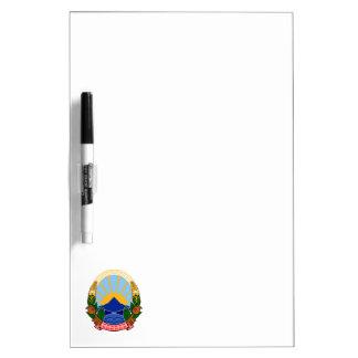 emblema de Macedonia Pizarras Blancas De Calidad