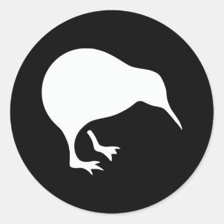 Emblema de Nueva Zelanda del kiwi Etiqueta Redonda