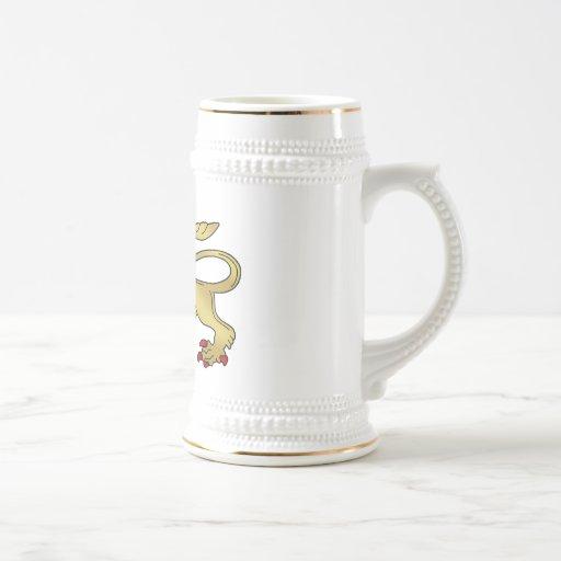Emblema de oro del león - escudo del león jarra de cerveza