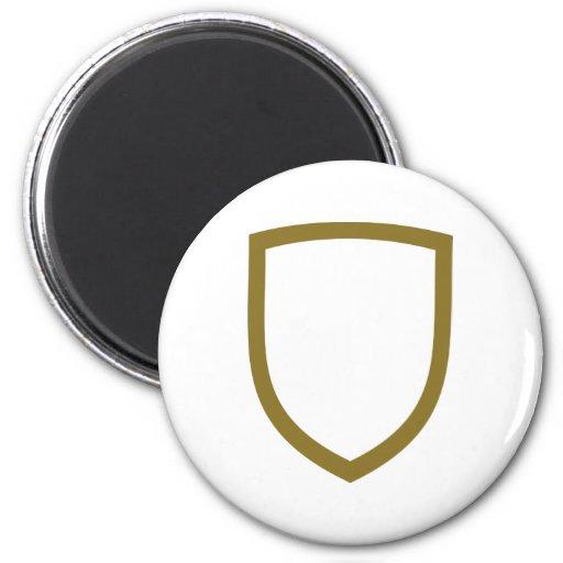 Emblema de oro imanes
