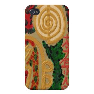 Emblema de ReikiHealingSymbol de Navin Joshi iPhone 4 Protectores