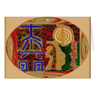 Emblema de ReikiHealingSymbol de Navin Joshi Tarjeta De Felicitación