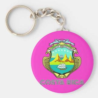 Emblema de Rican de la costa Llavero Redondo Tipo Pin