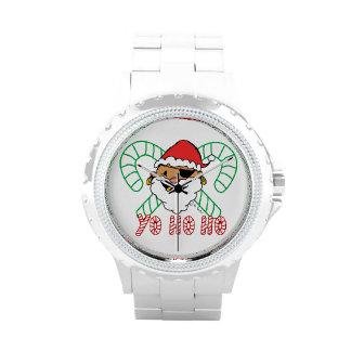 Emblema de Santa del pirata Relojes