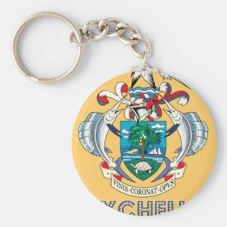 Emblema de Seychelles Llavero Personalizado