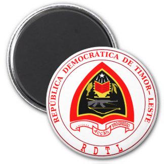 emblema de Timor Oriental Imán Redondo 5 Cm